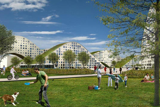 New Heden: The City Made of Green Roofs